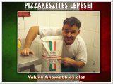 Pizzakészítés lépései